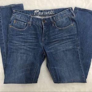 Madewell Jeans Size 28x30 Rail Straight Blue